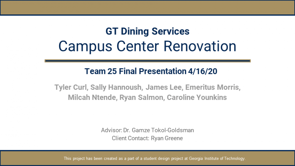 GT Dining Services