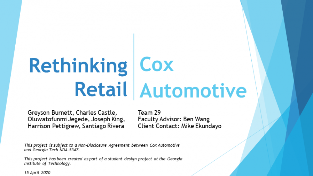 Team 29: Cox Automotive